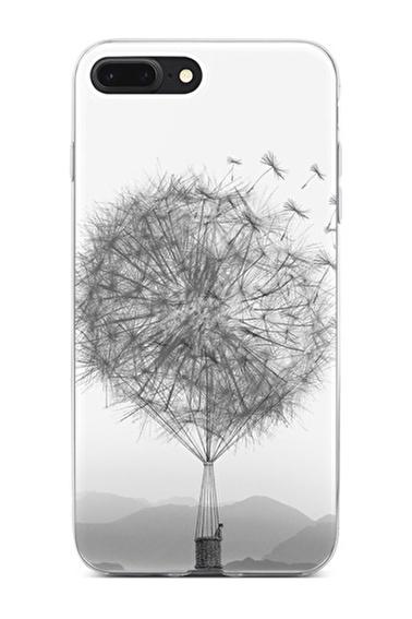 Lopard iPhone 8 Plus Kılıf Silikon Arka Kapak Koruyucu Hindiba Balon Desenli Full HD Baskılı Renkli